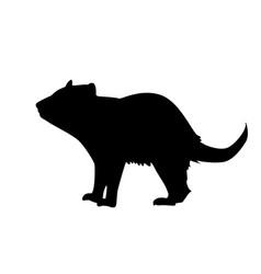 tasmanian devil silhouette vector image
