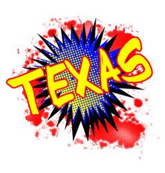 Texas comic exclamation vector