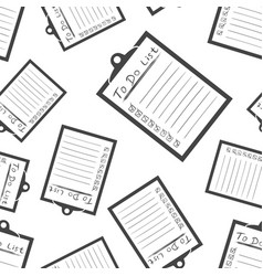 to do list icon with hand drawn text seamless vector image