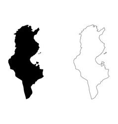 tunisia map vector image