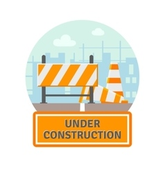 Under Construction Flat Icon vector