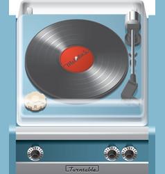Vintage turntable icon vector image