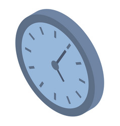 wall clock icon isometric style vector image