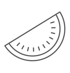 watermelon thin line icon fruit and vitamin vector image