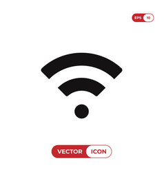 wifi signal icon vector image