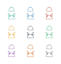 Worker icon white background vector