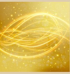 abstract golden background with laser line vector image vector image
