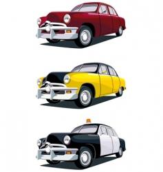 American vintage car vector image vector image