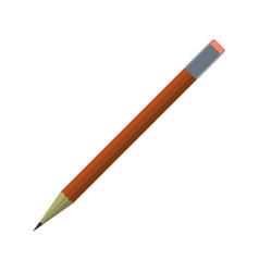 cartoon pencil icon schools supplies isolated vector image vector image