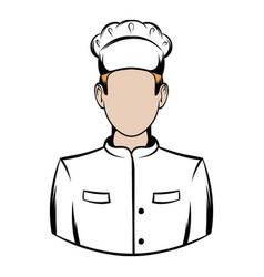 cook icon cartoon vector image