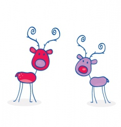 doodle Christmas vector image vector image