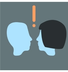 head relationship Man and woman vector image