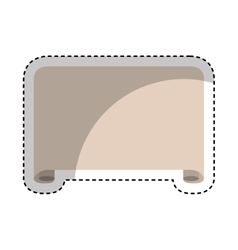 Parchment paper isolated icon vector image