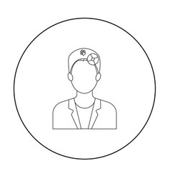 pet doctor icon in outline style isolated on white vector image vector image