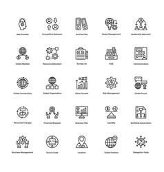 Project management line icons set 22 vector
