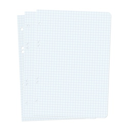 Three blank sheets of paper sheet vector image