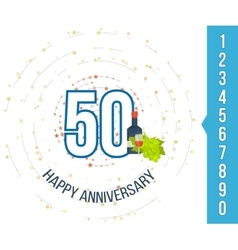 Anniversary happy holiday celebration emblems set vector image