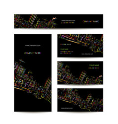 business cards design night city vector image vector image