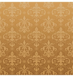 damask seamless wallpaper vector image