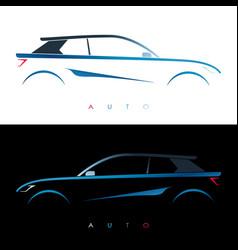 design blue car concept car vector image