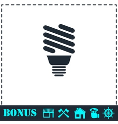 ECO energy lamp icon flat vector image vector image