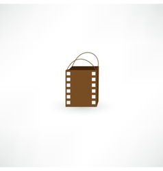 Film bag icon vector image vector image