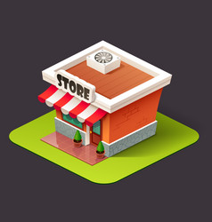isometric store icon vector image vector image