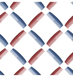 Plastic Combs Seamless Pattern Barber Supplies vector image vector image