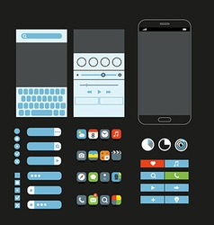 Different graphic elements set Modern smartphone vector image vector image