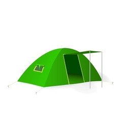 Green tourist tent vector image