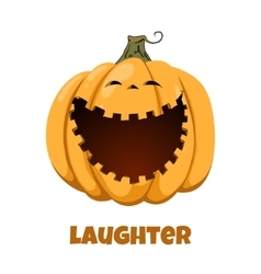 Pumpkin for Halloween Emotions Laughter vector image vector image