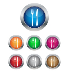 Restaurant button vector image vector image