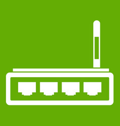 router icon green vector image