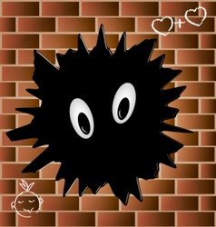 blob on a brick wall vector image vector image