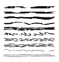 large set of pencil grunge brushes vector image