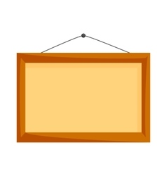 Wooden frame icon cartoon style vector image