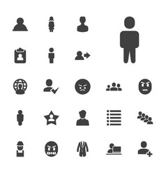 22 user icons vector