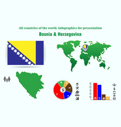 32 bosnia herzegovina all countries of the vector image