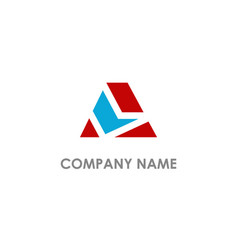 a initial shape colored business logo vector image
