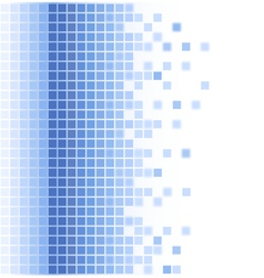 Abstract blue square mosaic background vector