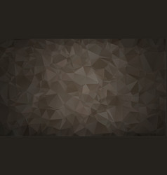 abstract polygon background dark black polygonal vector image