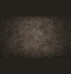 abstract polygon background dark black polygonal vector image