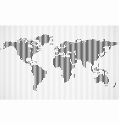 abstract world map with lines vector image