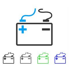 Accumulator flat icon vector