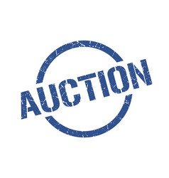 auction stamp vector image