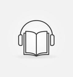 audiobook icon vector image