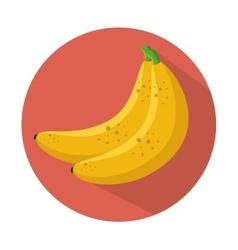 Banana icon healthy fruit design vector