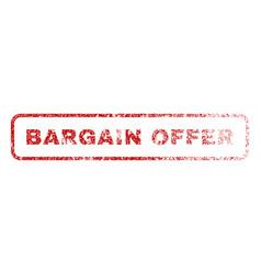 Bargain offer rubber stamp vector