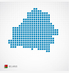 Belarus map and flag icon vector