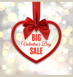 Big Valentines day sale poster vector